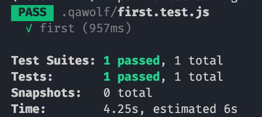 passed .qawolf/first.test.js