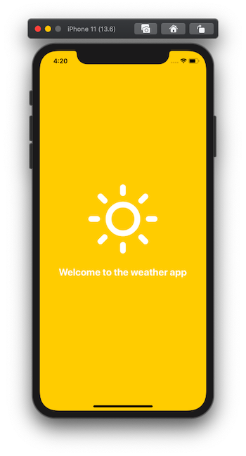 """phone with 'welcome to the weather app"""""""