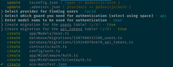 Auth Boilerplate Generation