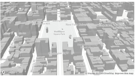 3D image in Mapbox.