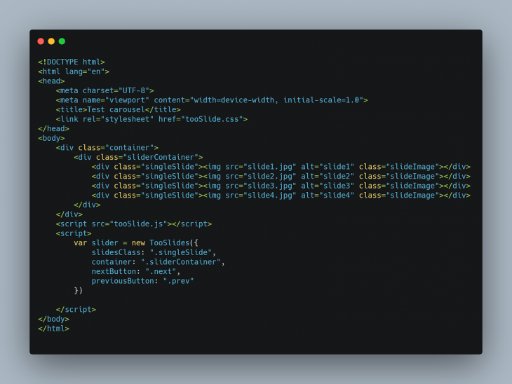 Our HTML file.