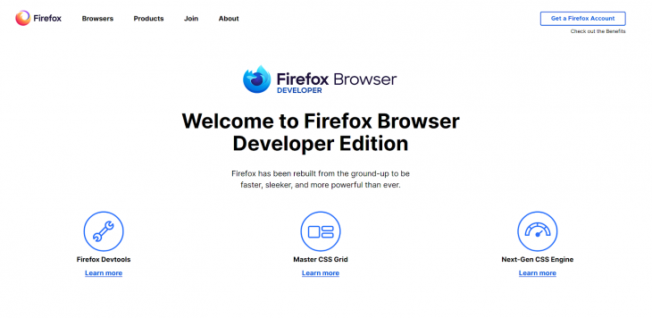 The Firefox background.
