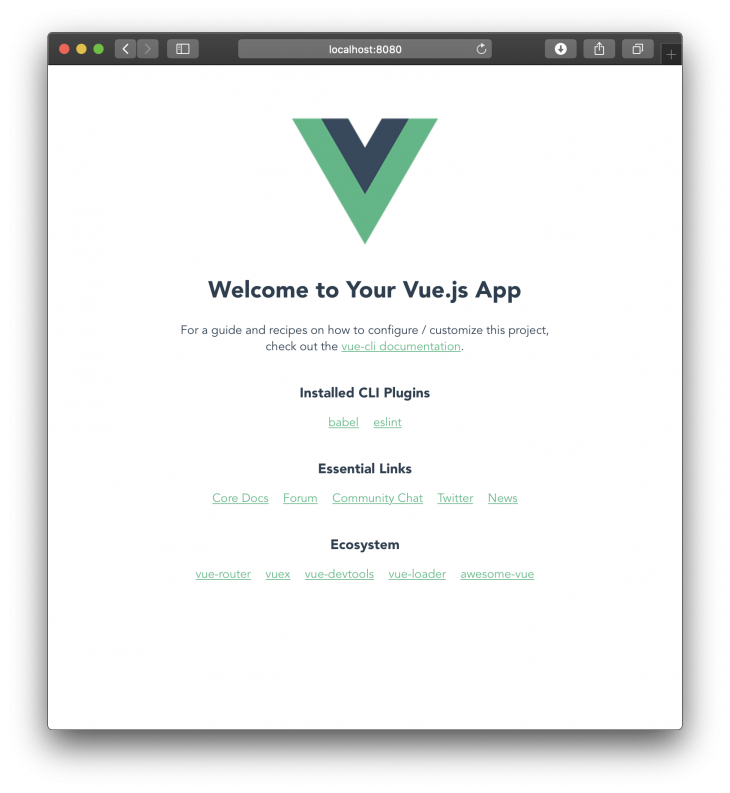 welcome to the vue app