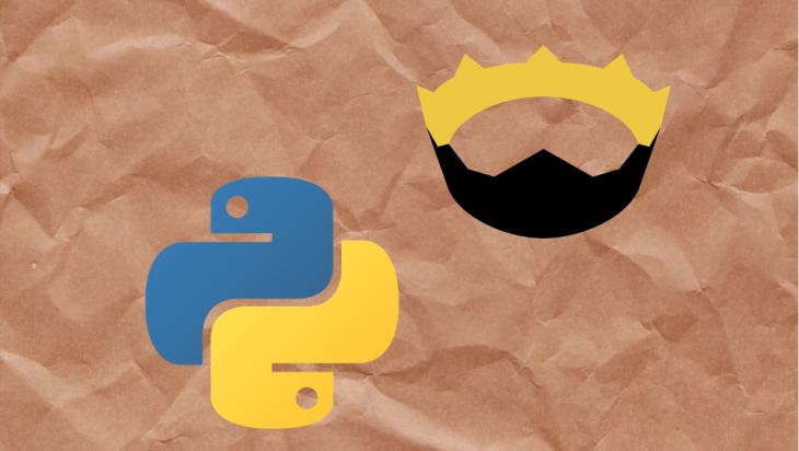 The python and nim logos.