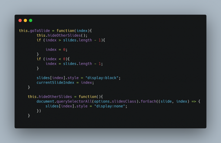 The code snippet for our methods.