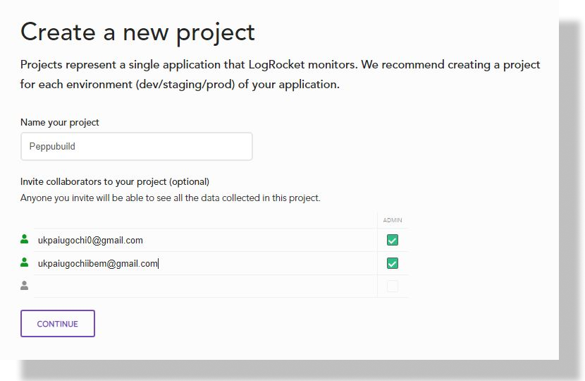 Create a new project.