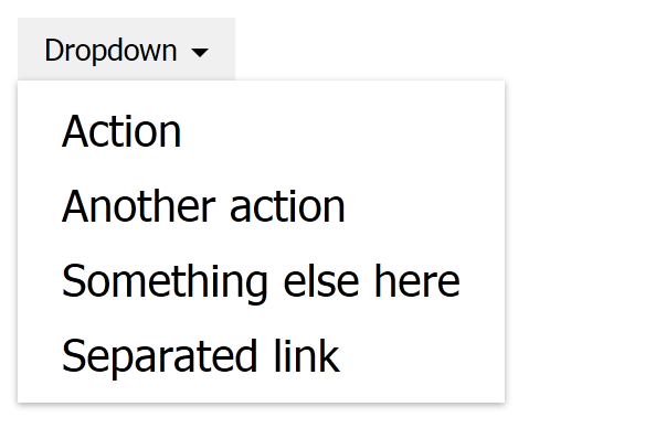 Dropdown with options.