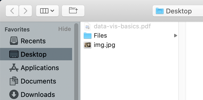 The display when files are accepted.