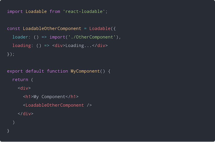 react-loadable Example