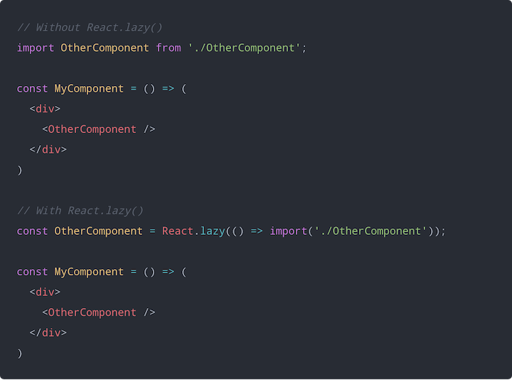 Using React.lazy()