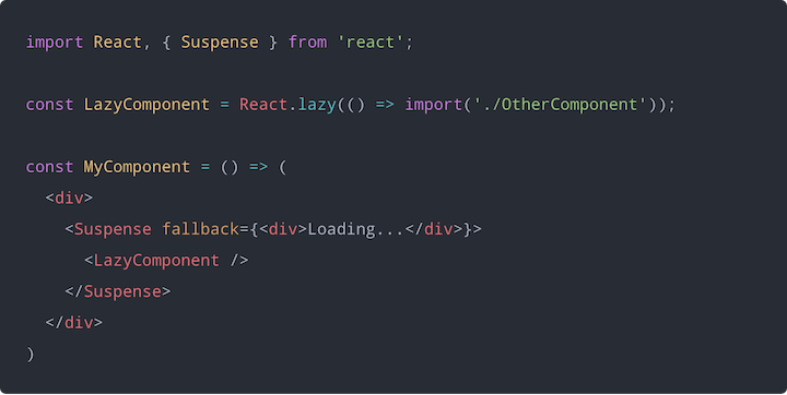 Using React.Suspense