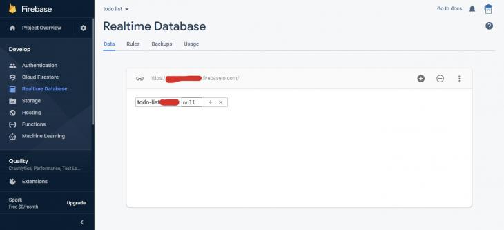 noSQL todo list app