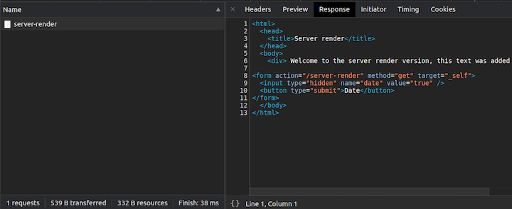 Server Render Example