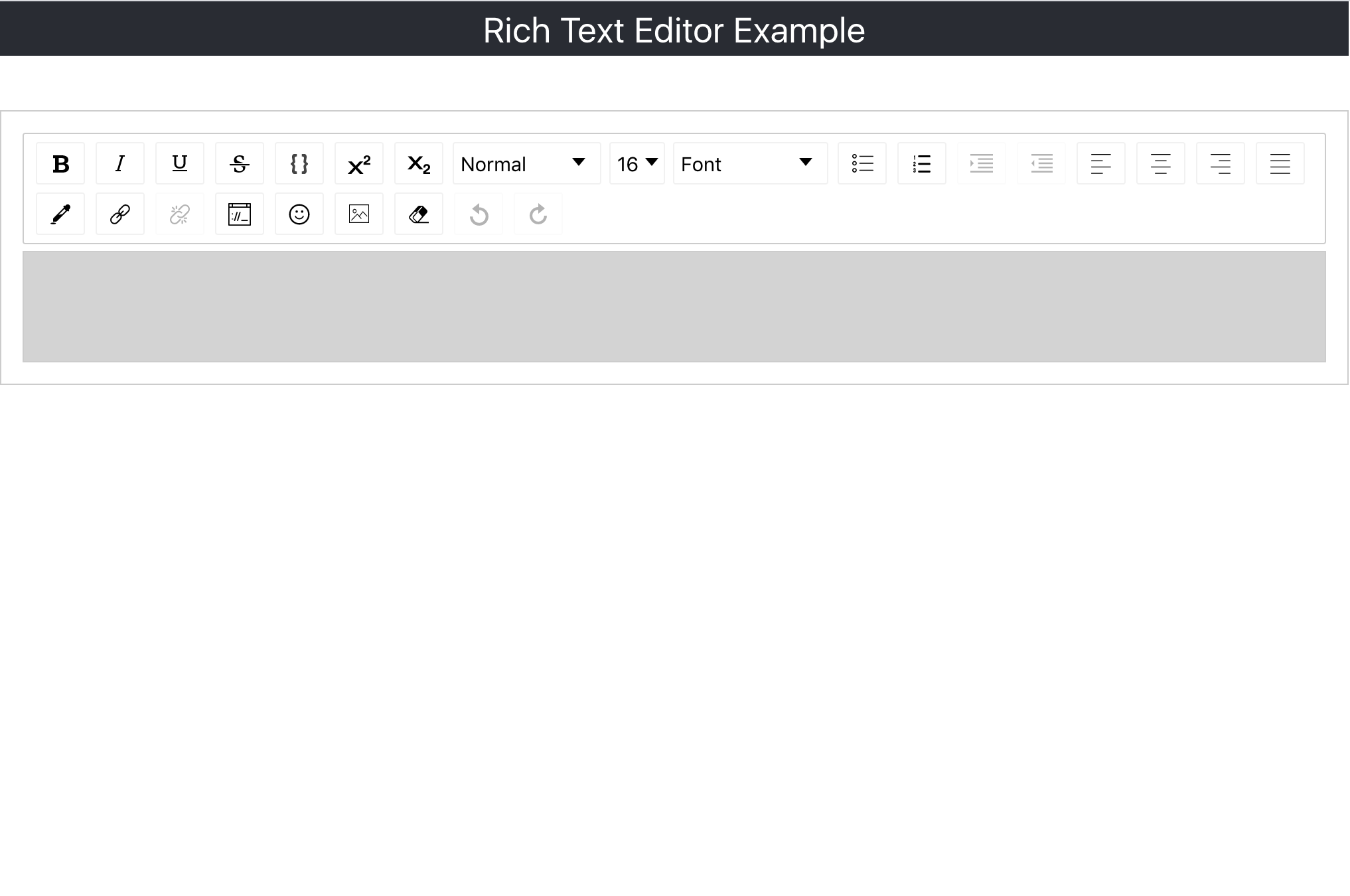 styled text editor