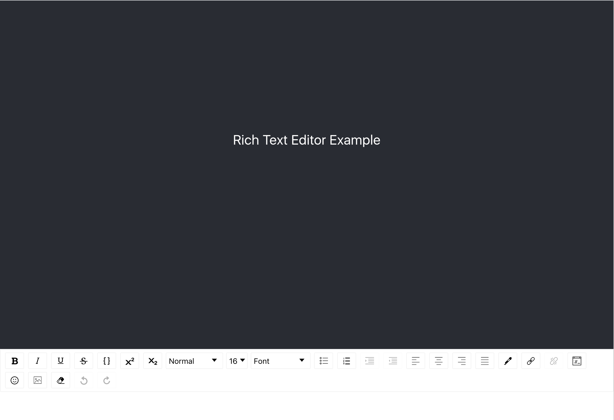 text editor example in browser
