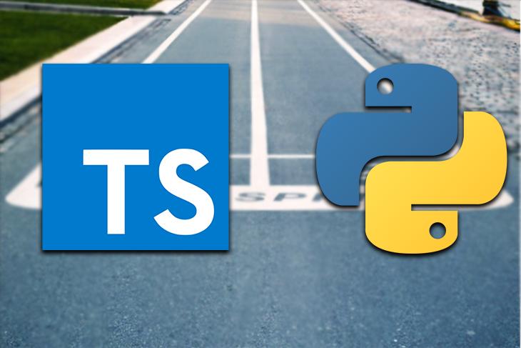 TypeScript and Python logos.