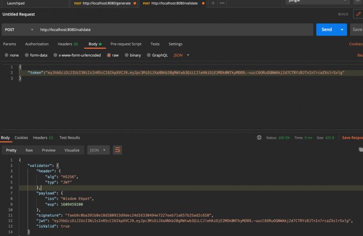 JSON web token deno valid