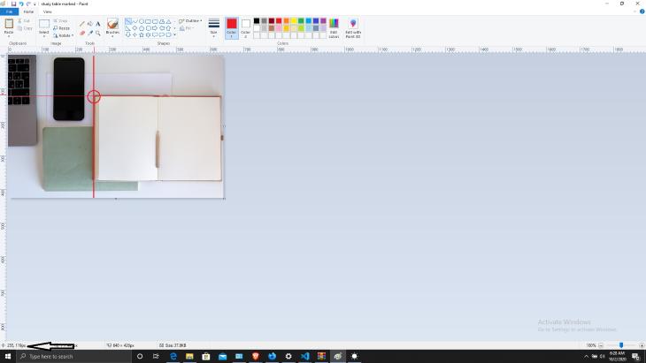 Cursor Coordinates in Microsoft Paint
