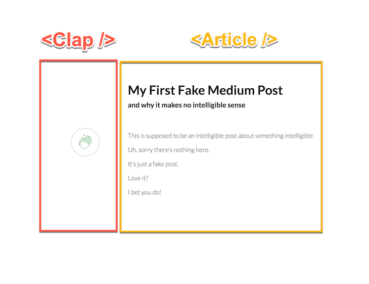 data fetching app structure with article and clap