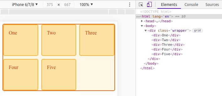 Chrome DevTools CSS find grids