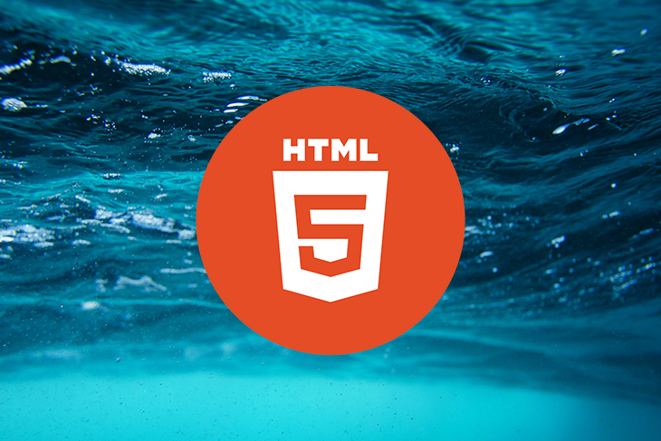 HTML 5 Logo Over Water Background