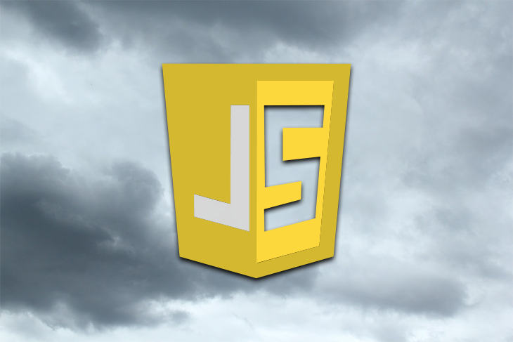 JavaScript Logo Over a Stormy Background