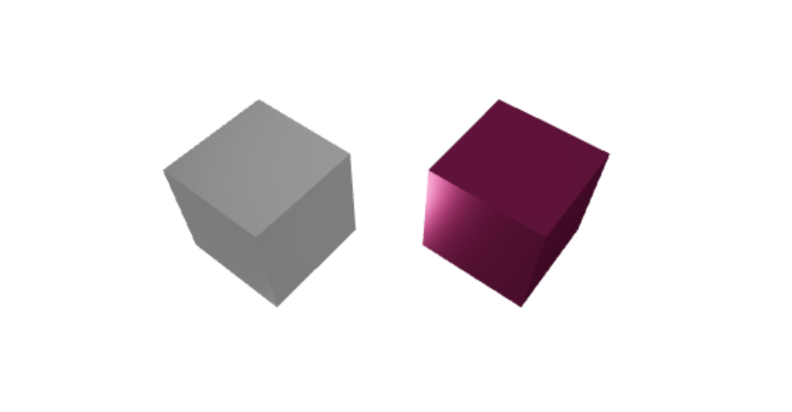 silver and purple 3D cube