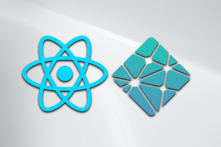 The React and Netlify logos against a white background.