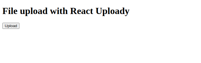 React Uploady Text Without Styling