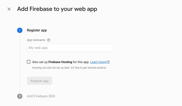 Register App Page