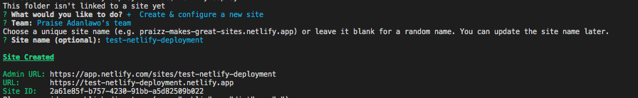 Our second CLI prompt.