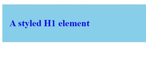 Styled H1 Element Example
