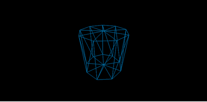 Three.js: Cylinder Shaped Using radiusSegments