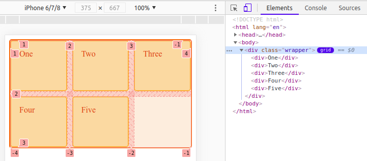Chrome Devtoools enable CSS grid overlay