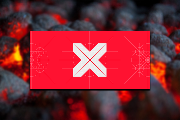Visx logo against a black and red background.