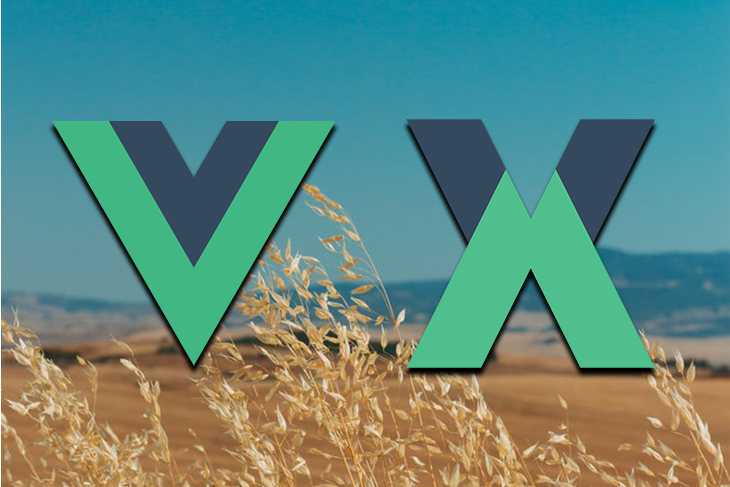 Vuex Logo Over a Field Background
