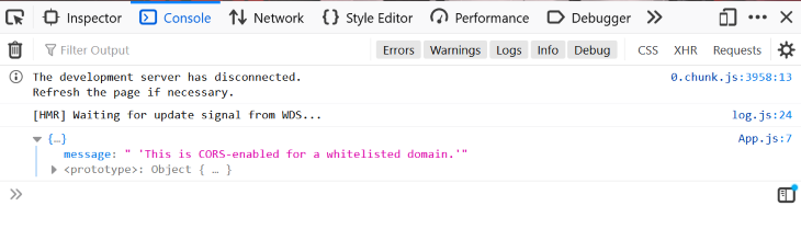 Showing Now as a Whitelisted Domain