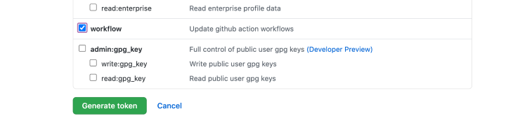The Workflow Checkbox