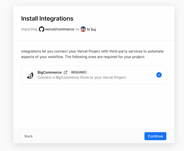 BigCommerce Install Complete