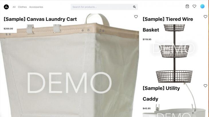 Demo E-commerce Site Live App