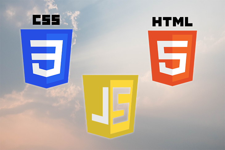 The CSS, HTML, and JavaScript logos.