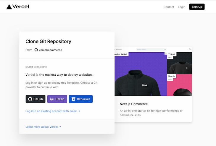 Next.js Commerce Clone Deploy