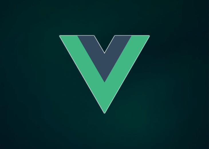 The Vue logo against a dark background.