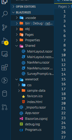 The Blazor Webassembly Folder Structure