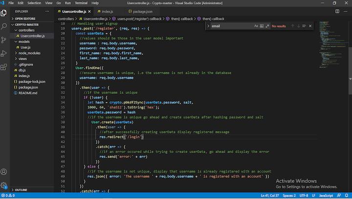 Adding Crypto to Node.js
