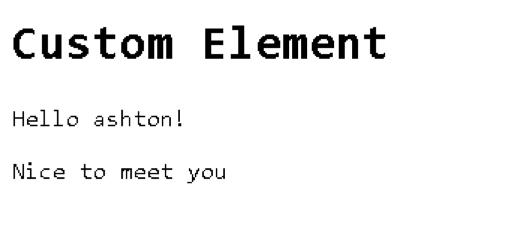 custom element