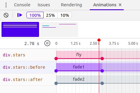 Devtools Animations Tab