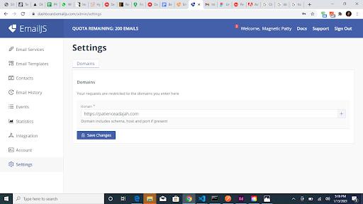 domain restrictions set