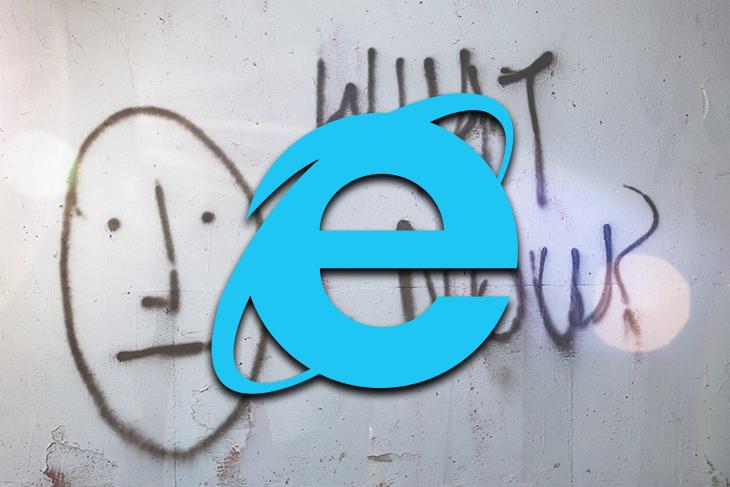 Internet Explorer 11 Logo Over Graffiti Background