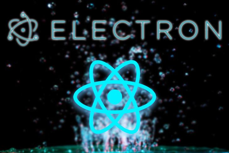 Electron and React Logos